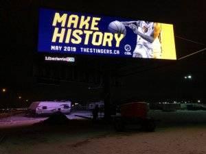 Large digital Billboard in Alberta for Blackjack's Roadhouse