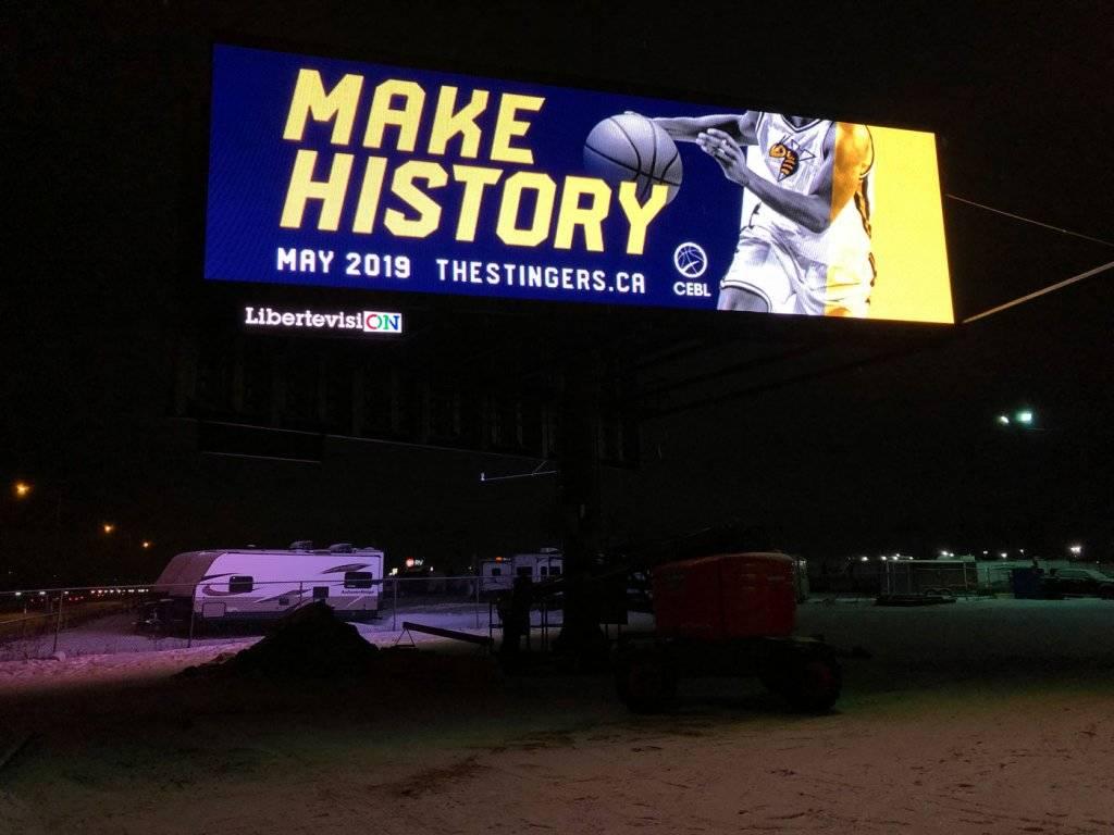 Blackjack's Roadhouse Billboard at night